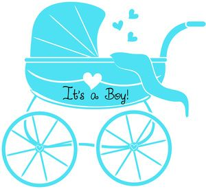 300x275 Baby Boy Clipart Image Baby Shower Graphic Of Stroller Or Baby