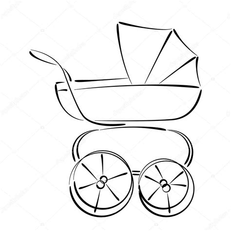 474x474 baby stroller drawing, vintage baby stroller clipart clipartxtras