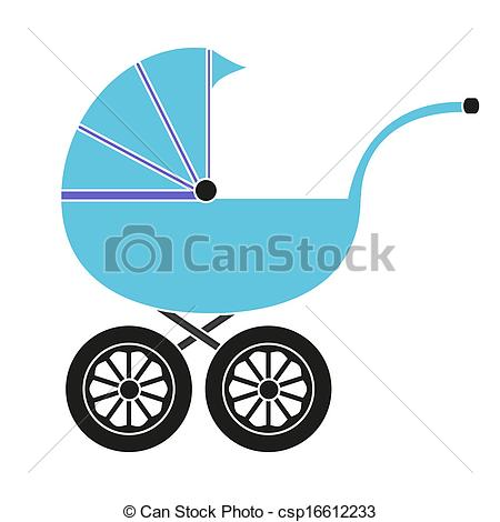 450x470 Baby Carriage Vectors