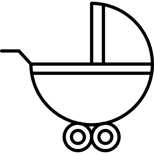 512x512 Baby Carriage With Wheels Icons Free Download