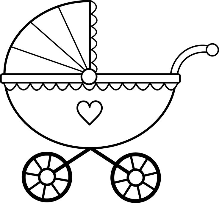 736x680 Stroller Drawing Baby Rattle For Free Download