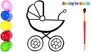 320x180 Drawing Gliter Baby Carriage