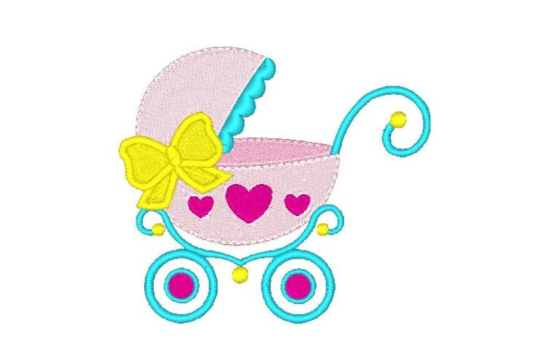 794x529 Fancy Baby Carriage Machine Embroidery Design Embroidery Etsy