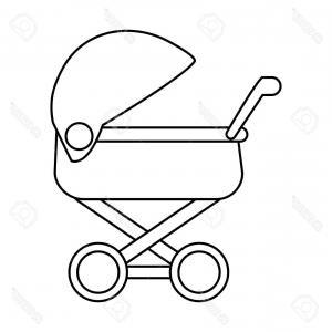 300x300 Stock Illustration Baby Child Pram Stroller Vector Soidergi