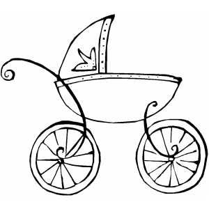 300x300 French Baby Carriage Outline Jen's Baby Shower French Baby