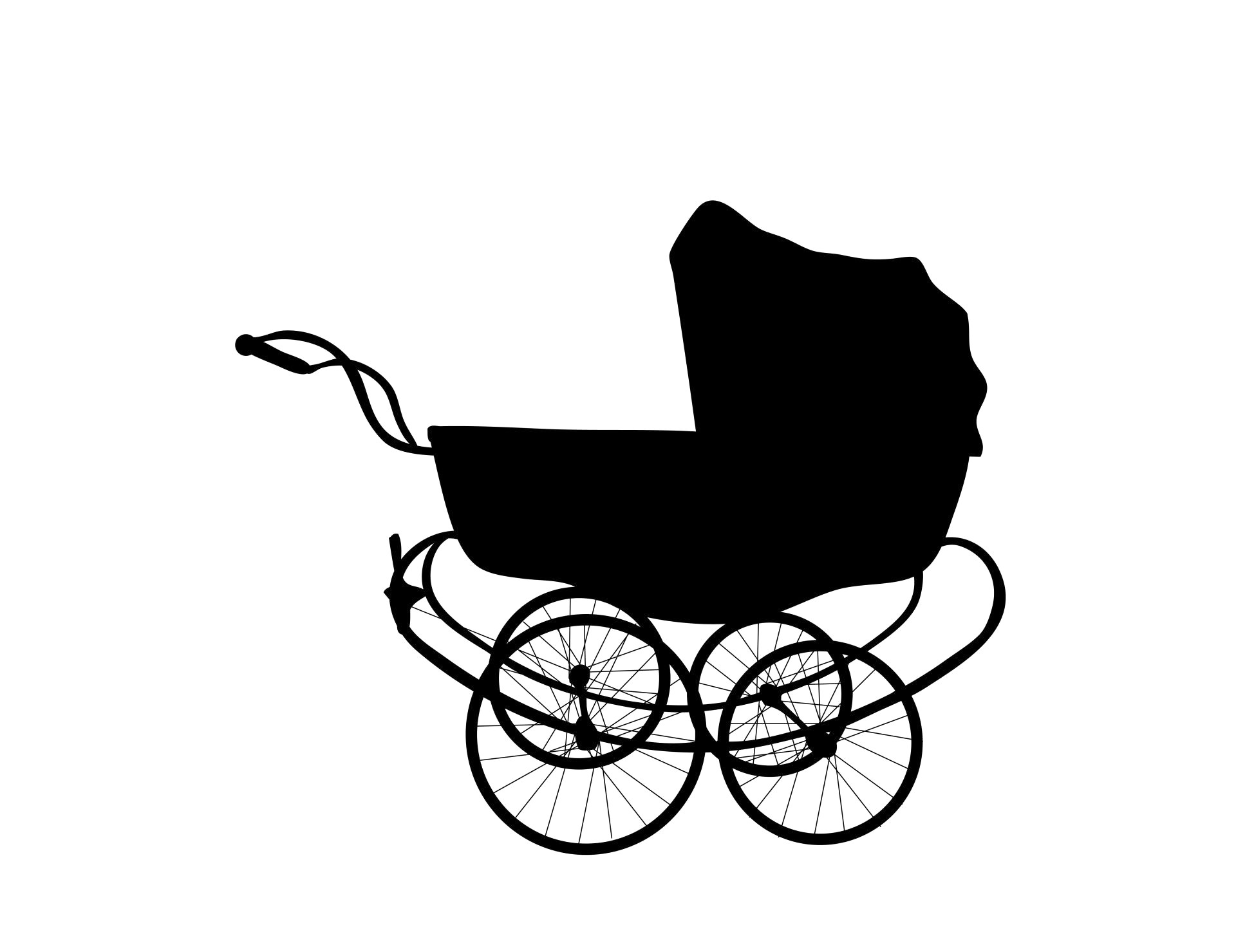 1920x1479 Baby Carriage Clipart