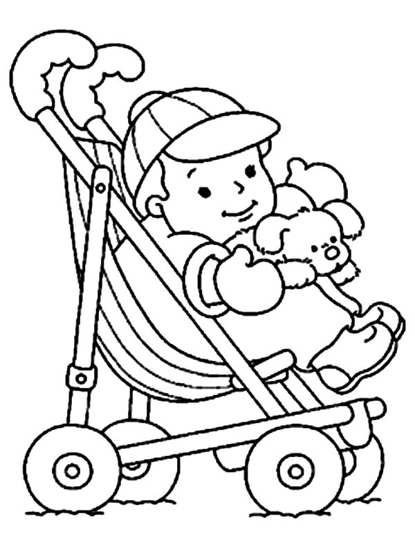 600x784 Stroller Drawing Baby Stuff For Free Download