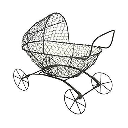 425x425 Black Wire Baby Buggy Home Kitchen