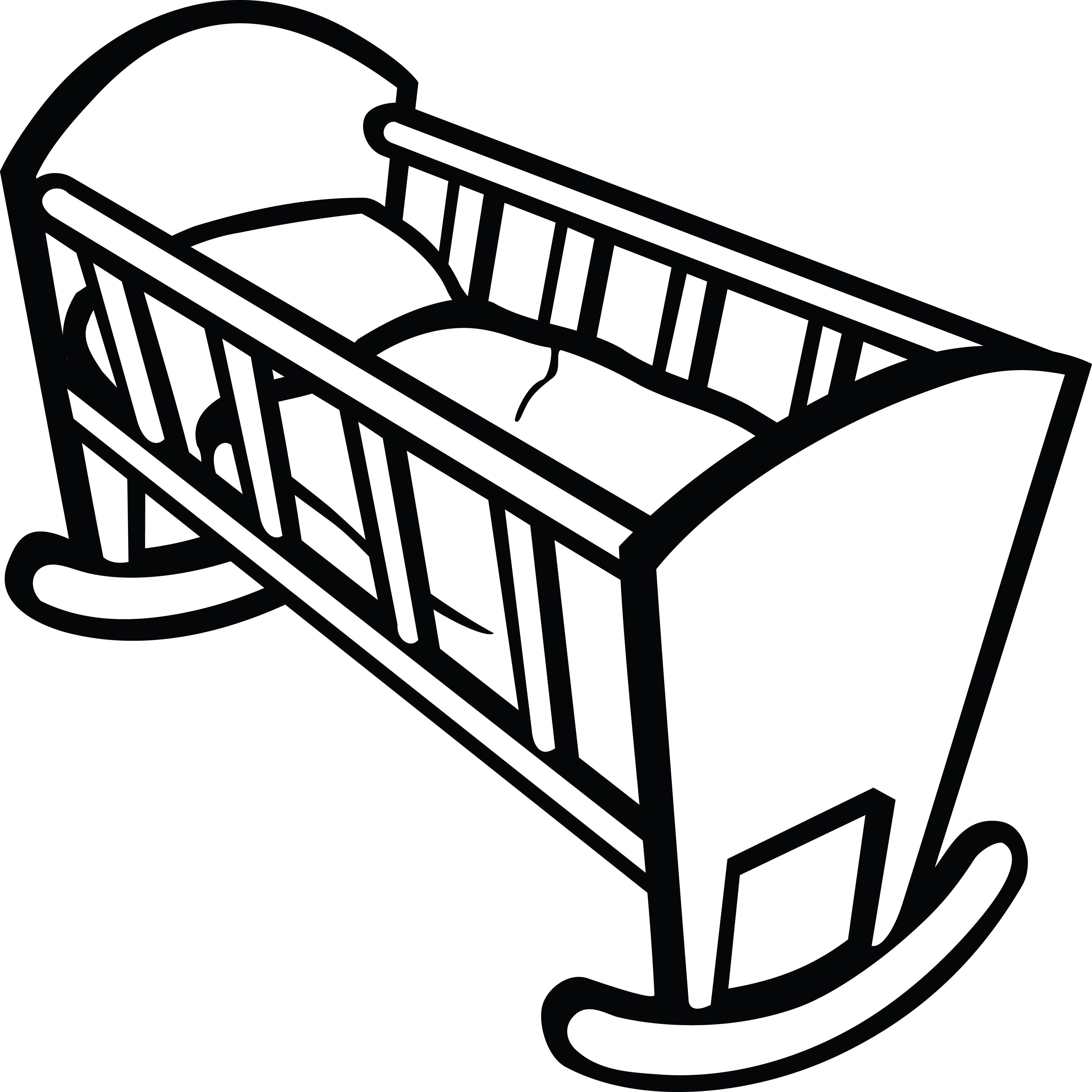 4000x4000 clipart of a baby crib crib cribs, baby cribs, clip art