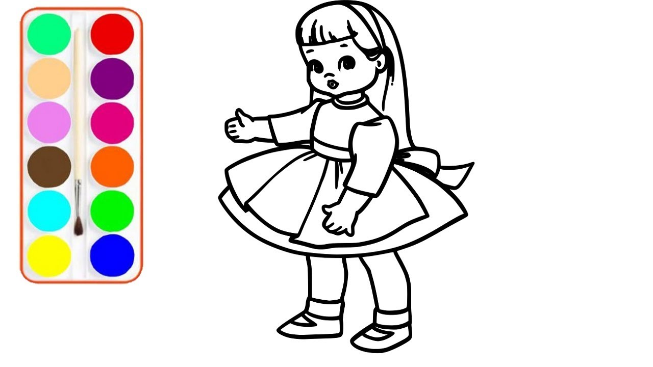 1280x720 baby doll drawing and coloring cute baby doll coloring pages