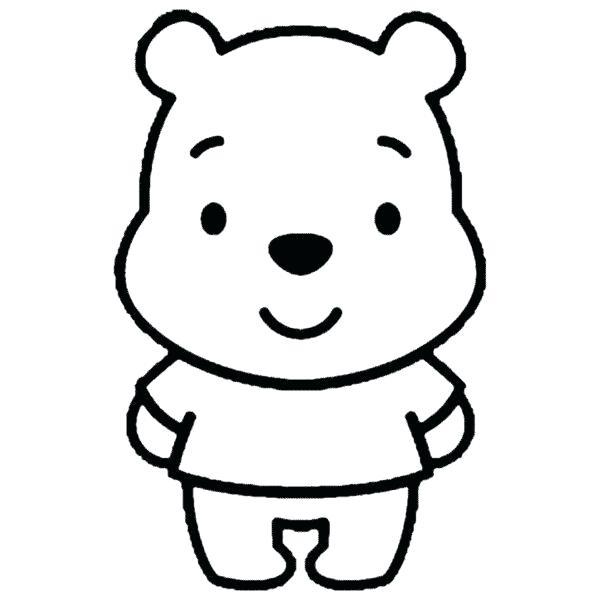 600x600 easy winnie the pooh drawings baby the pooh cute easy winnie