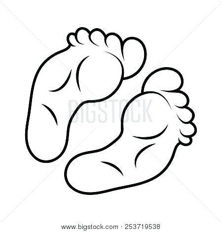 450x470 Foot Print Outline Baby Footprint Outline