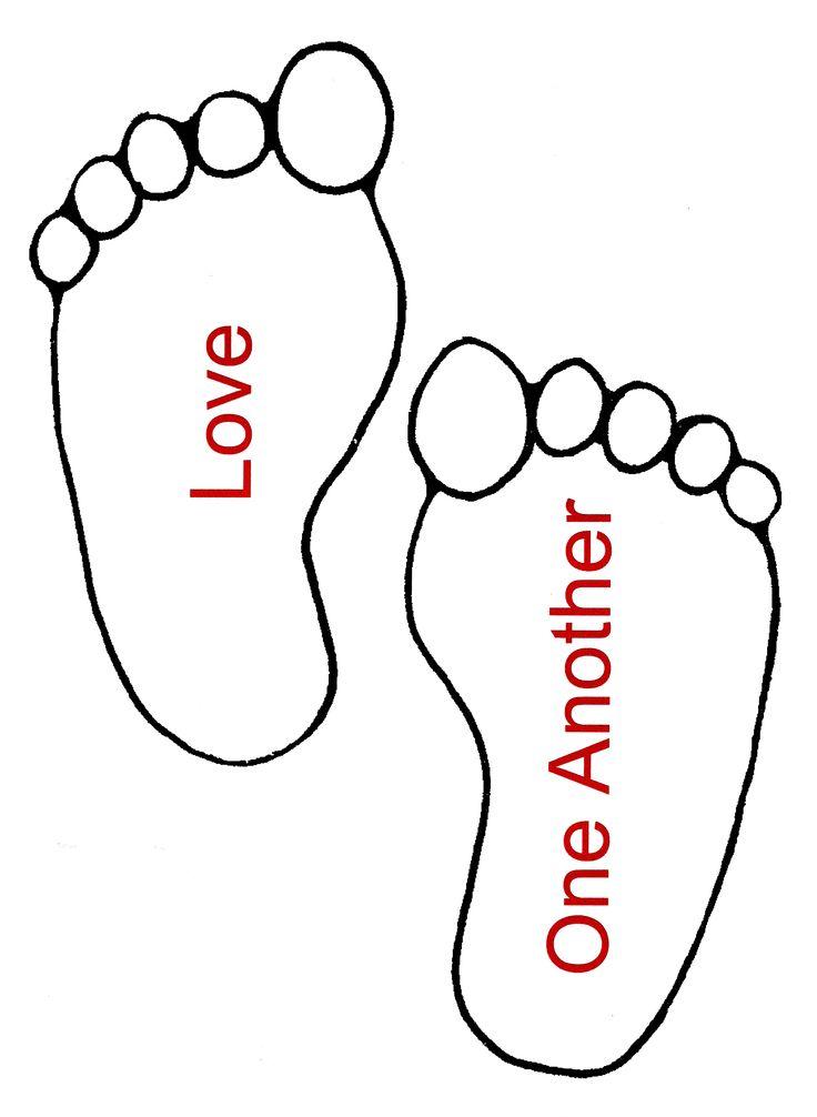736x1006 Baby Footprint Coloring