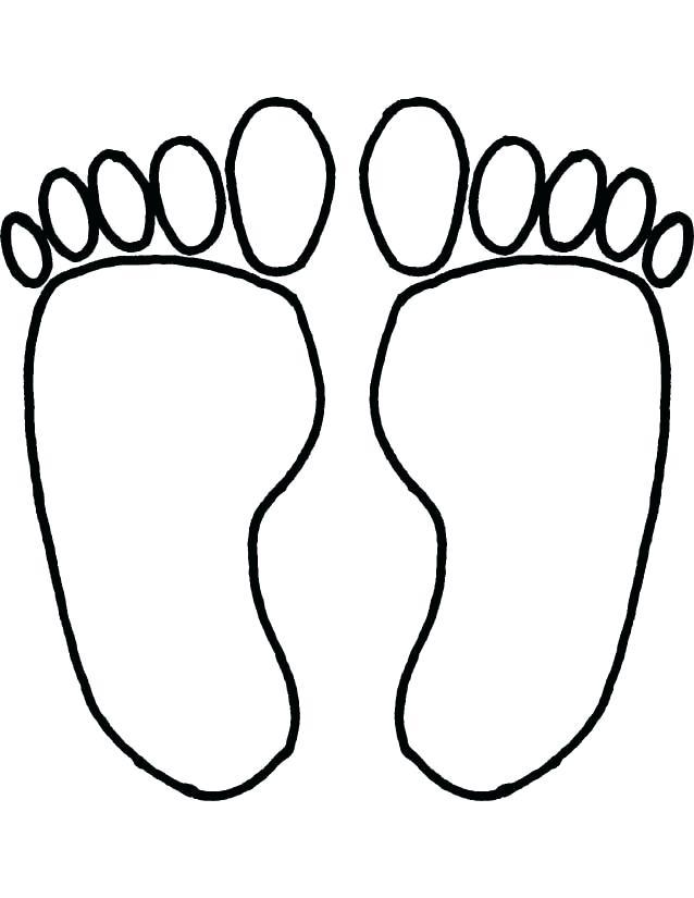 638x825 footprint outline printable baby footprints clip art footprint
