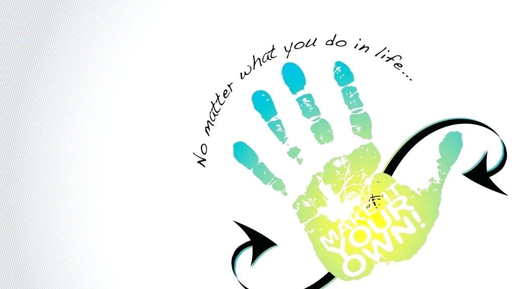 1024x576 Hand Print Drawing Image Handprint Animal Drawings Running