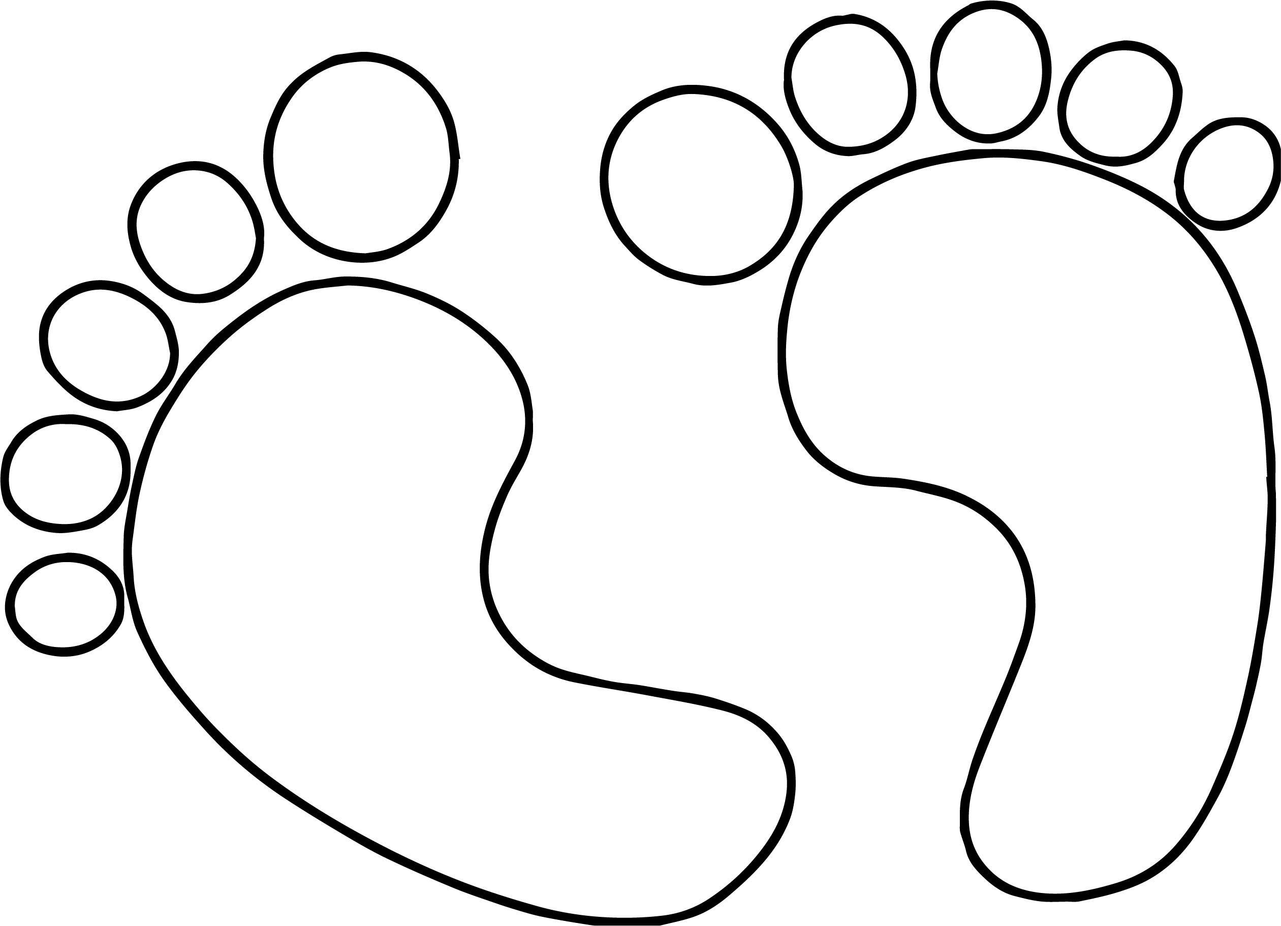 2521x1822 Two Baby Boy Footprint Coloring