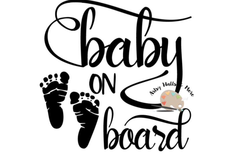 818x545 Baby On Board Baby Footprints New Mommy
