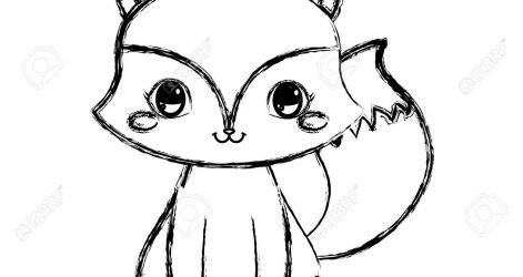 Baby Fox Drawing Free On