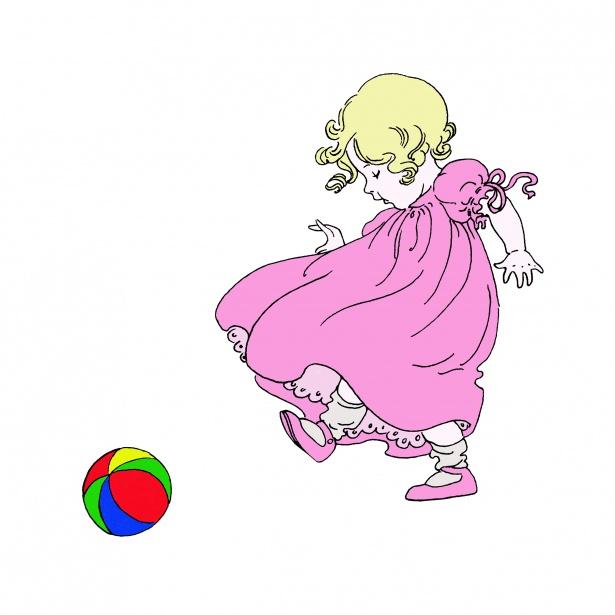 615x615 Baby Girl Illustration Clipart Free Stock Photo