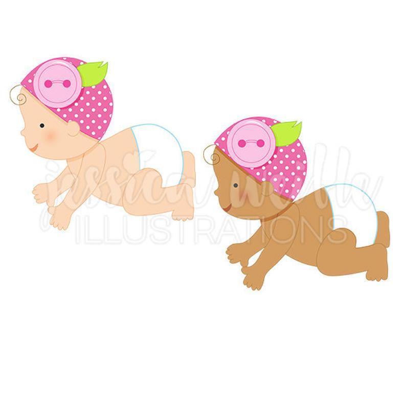 794x794 Button Baby Girl Cute Digital Clipart Diaper Baby Clip Art Etsy