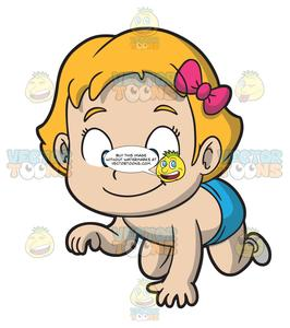 266x300 A Cute Baby Girl Crawling On The Floor Clipart Cartoons