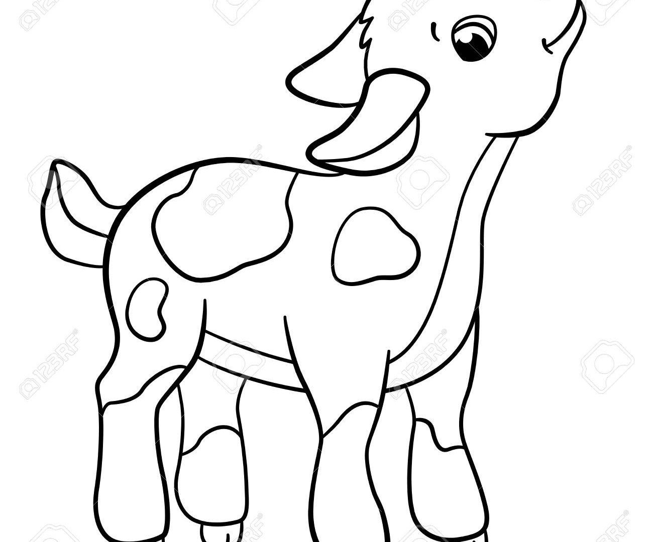 1300x1080 Excellent Cute Goat Coloring Pages Baby Goats
