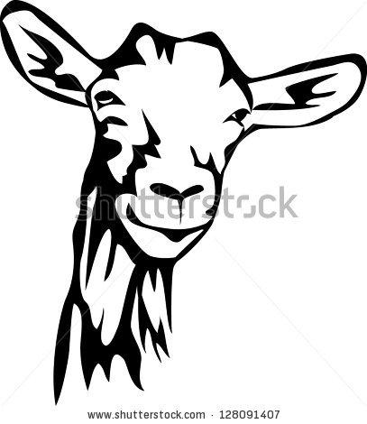 407x470 Goats Head Clipart Baby Goat