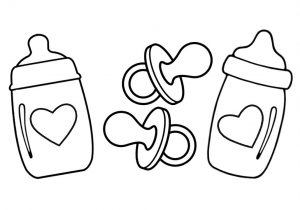 300x210 how to draw baby bottle how to draw baby bottle rattle pacifier