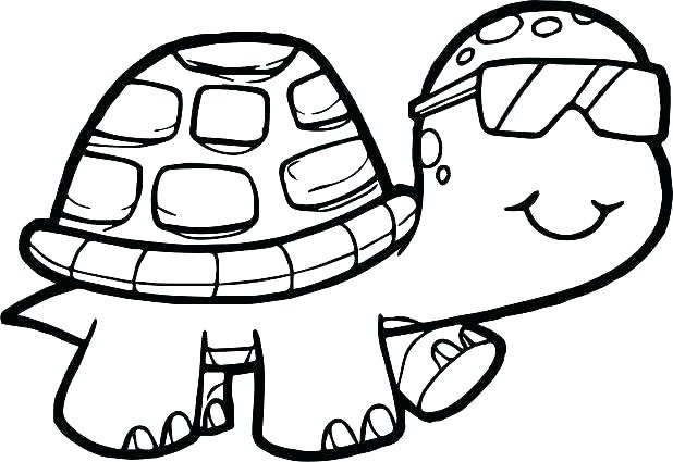 618x425 Cute Turtle Drawing