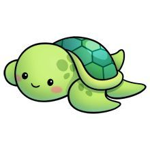 220x220 Kawaii Sea Turtle