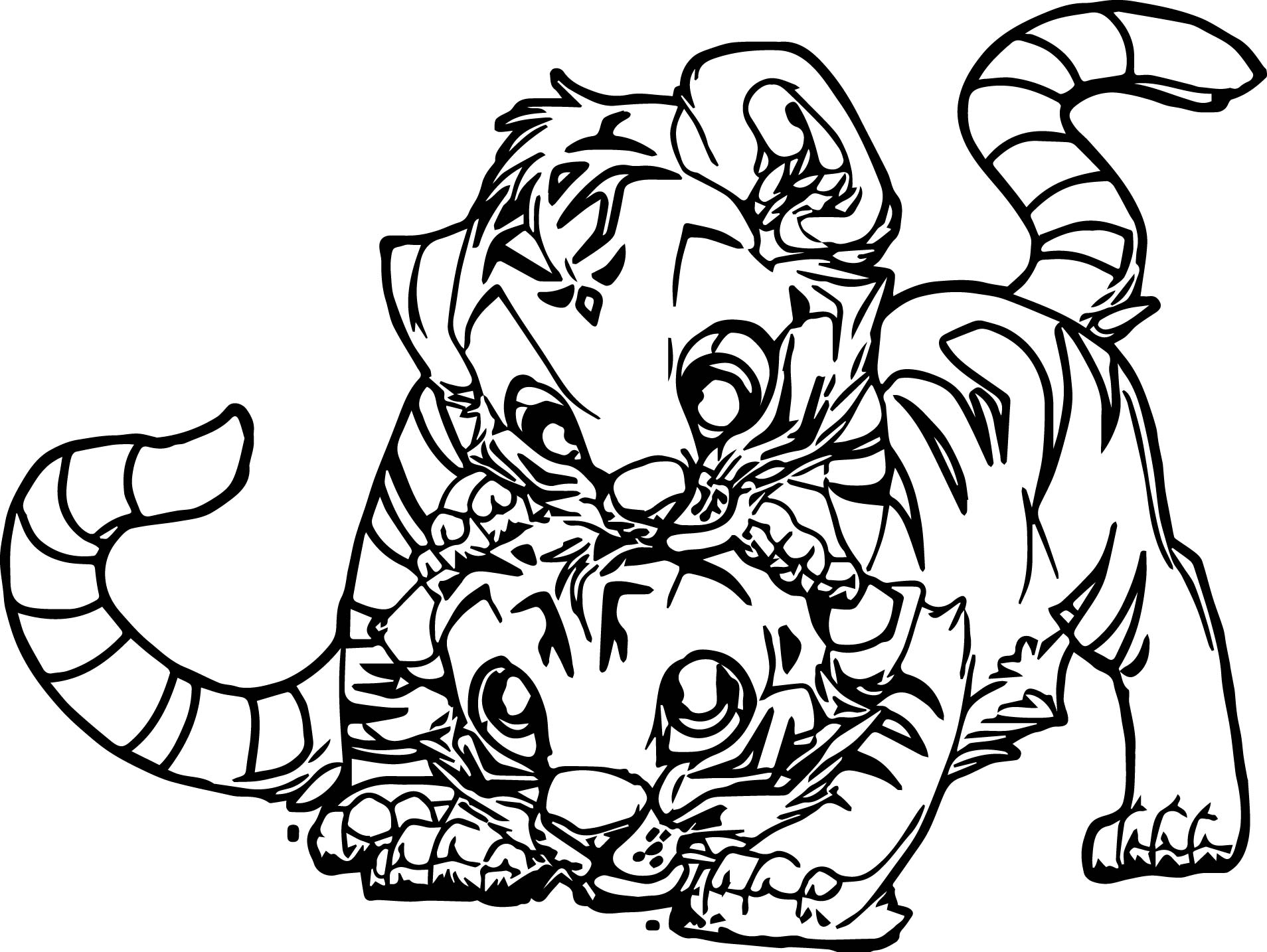 Baby Tiger Drawing | Free download on ClipArtMag