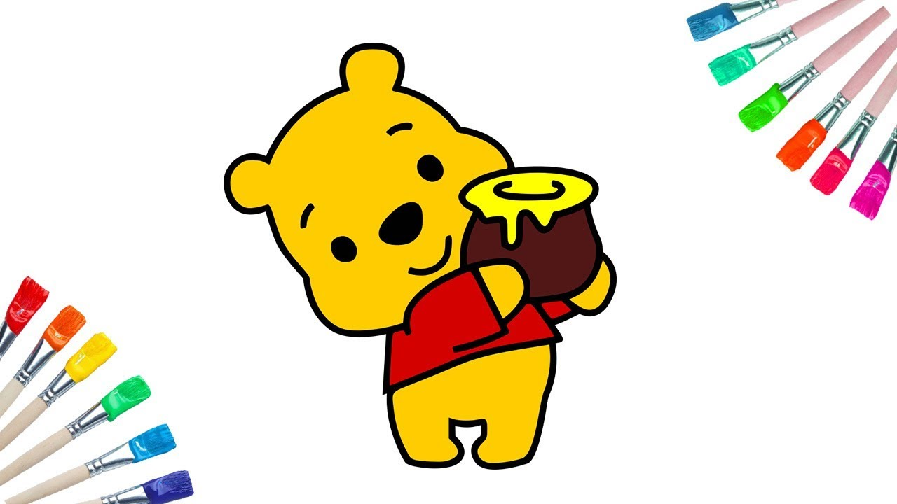 1280x720 Collection Of 'baby Winnie The Pooh Drawing' Download More Than