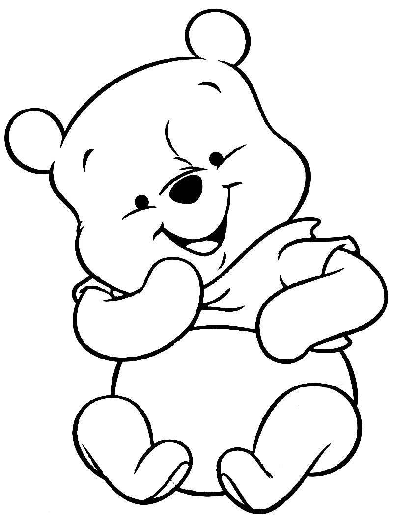 800x1067 Winnie The Pooh Baby Colouring Pages Y Piglet Coloring