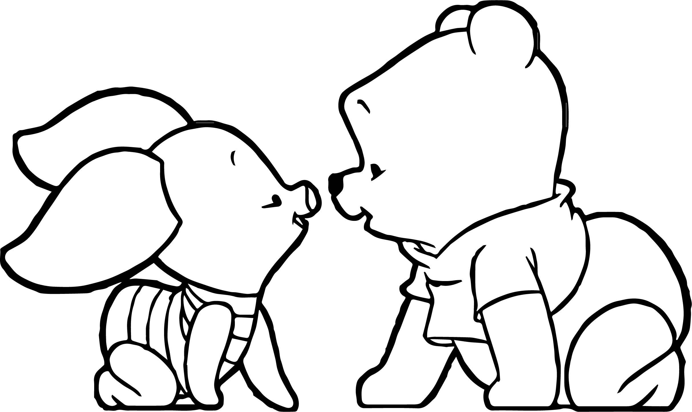 2425x1444 Winnie The Pooh Coloring Pages Bing Images Within Baby