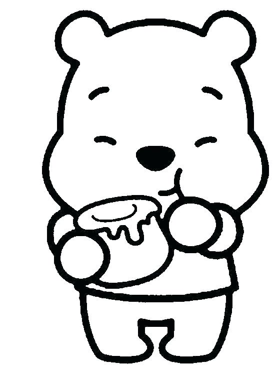 552x756 Baby Winnie The Pooh Coloring Pages Cute The Pooh Coloring Pages