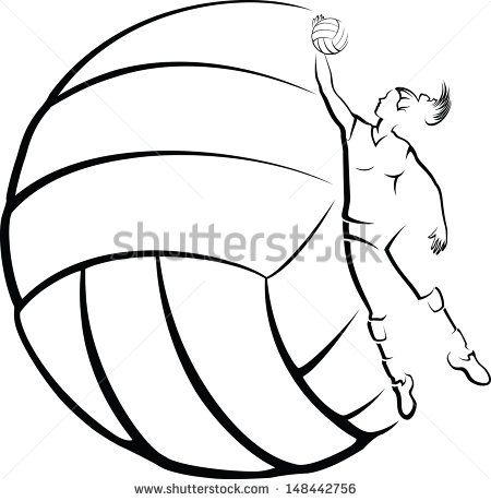 450x459 volleyball player with volleyball background