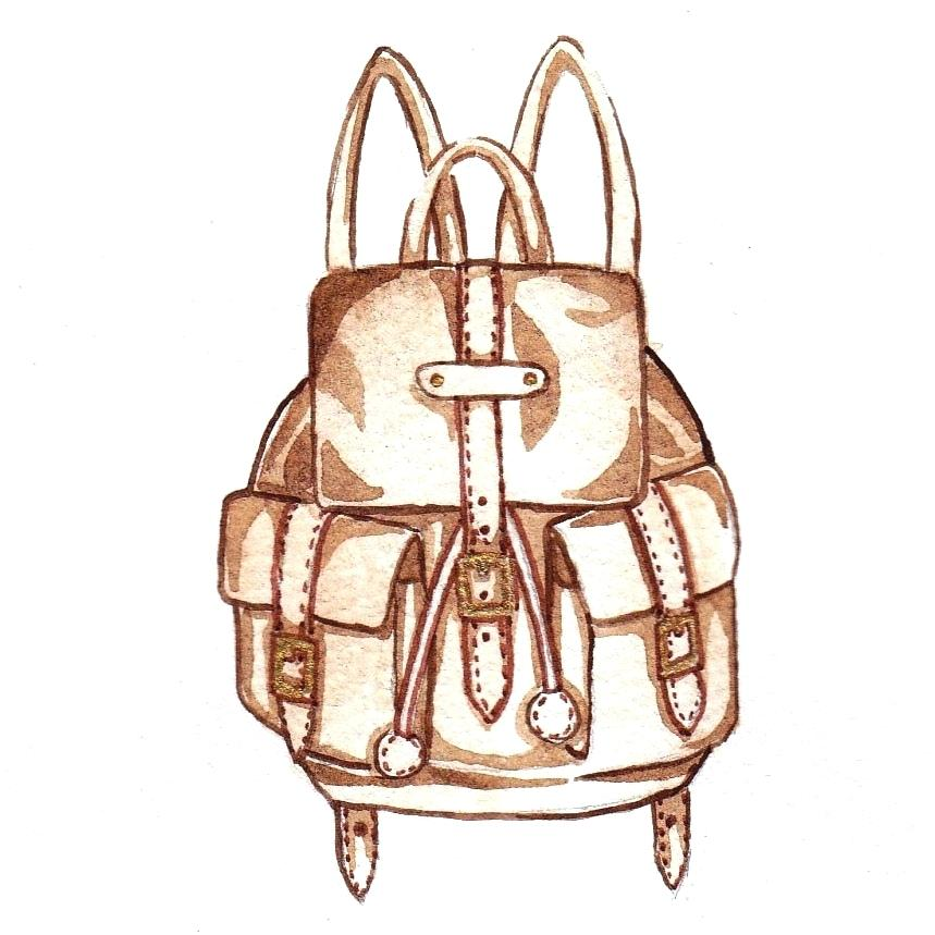 859x859 drawing of backpack vintage leather backpack drawing backpack