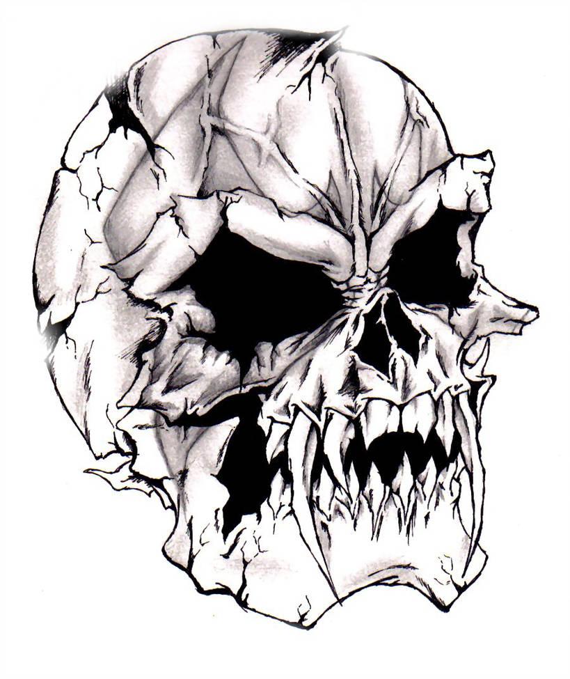 819x975 Devilish Evil Skull