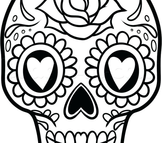 678x600 Drawing Ideas Skull