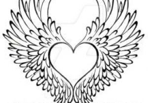 300x210 Drawing Of A Heart With Wings Tattoo Heart Hand Drawn Illustration