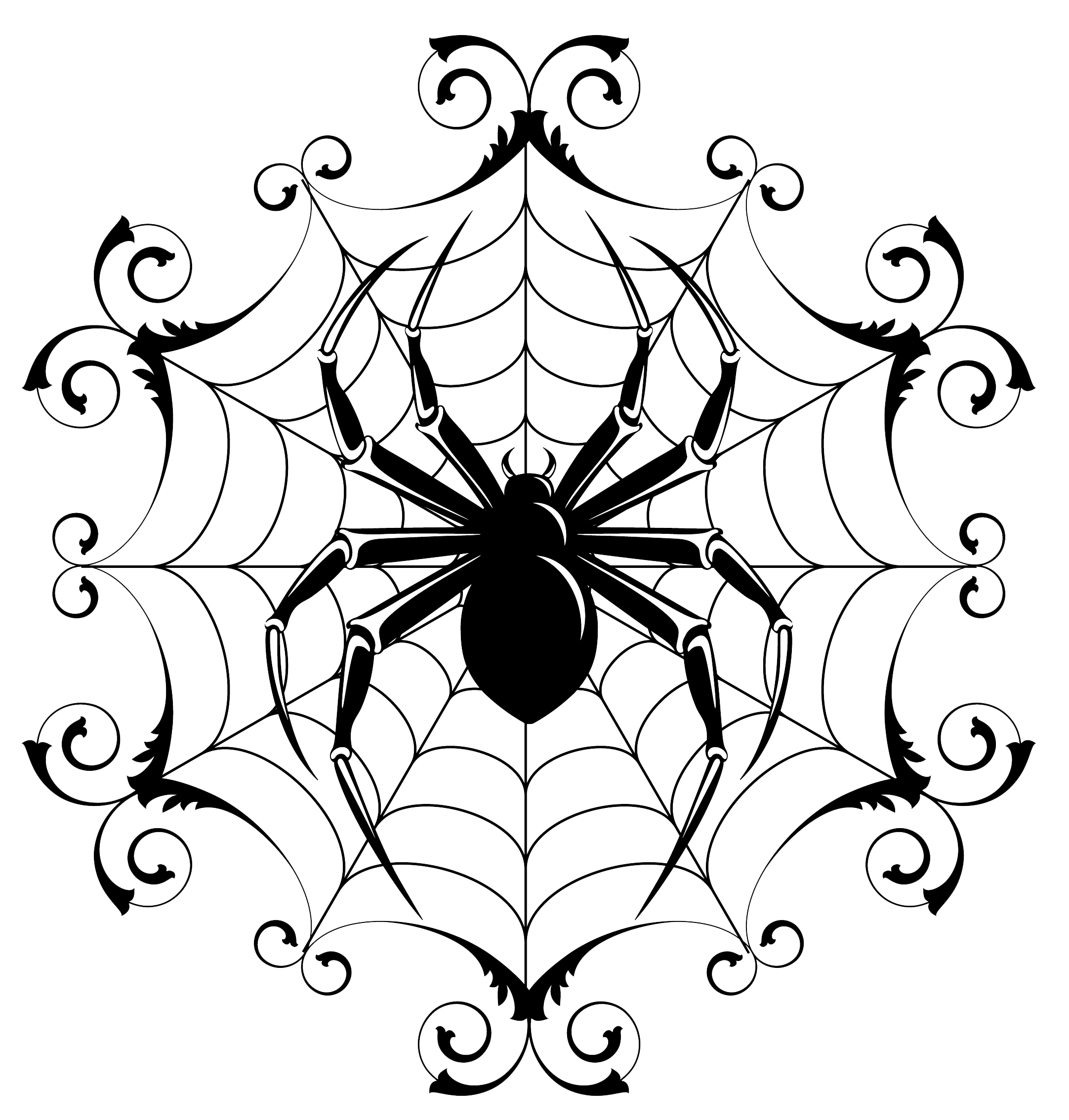 2164x2268 Spiders Drawing Badass Transparent Png Clipart Free Download