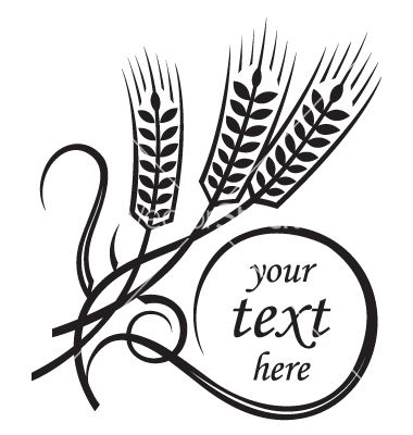 380x400 wheat vector image on logo wheat vector, wheat tattoo, vector art