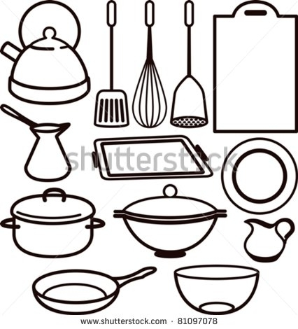 426x470 Cooking Utensils Clipart Group With Items