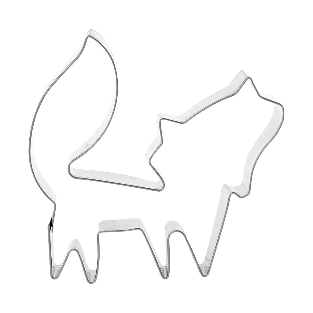 1024x1024 Stainless Steel Cookie Cutters Animal Fox Form