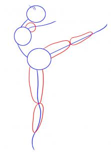 222x302 How To Draw A Ballerina, Step