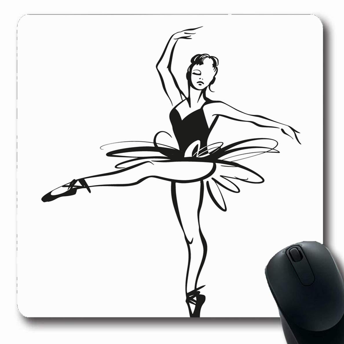 1188x1188 Ahawoso Mousepads Sketch Ballerina Ballet Dancer