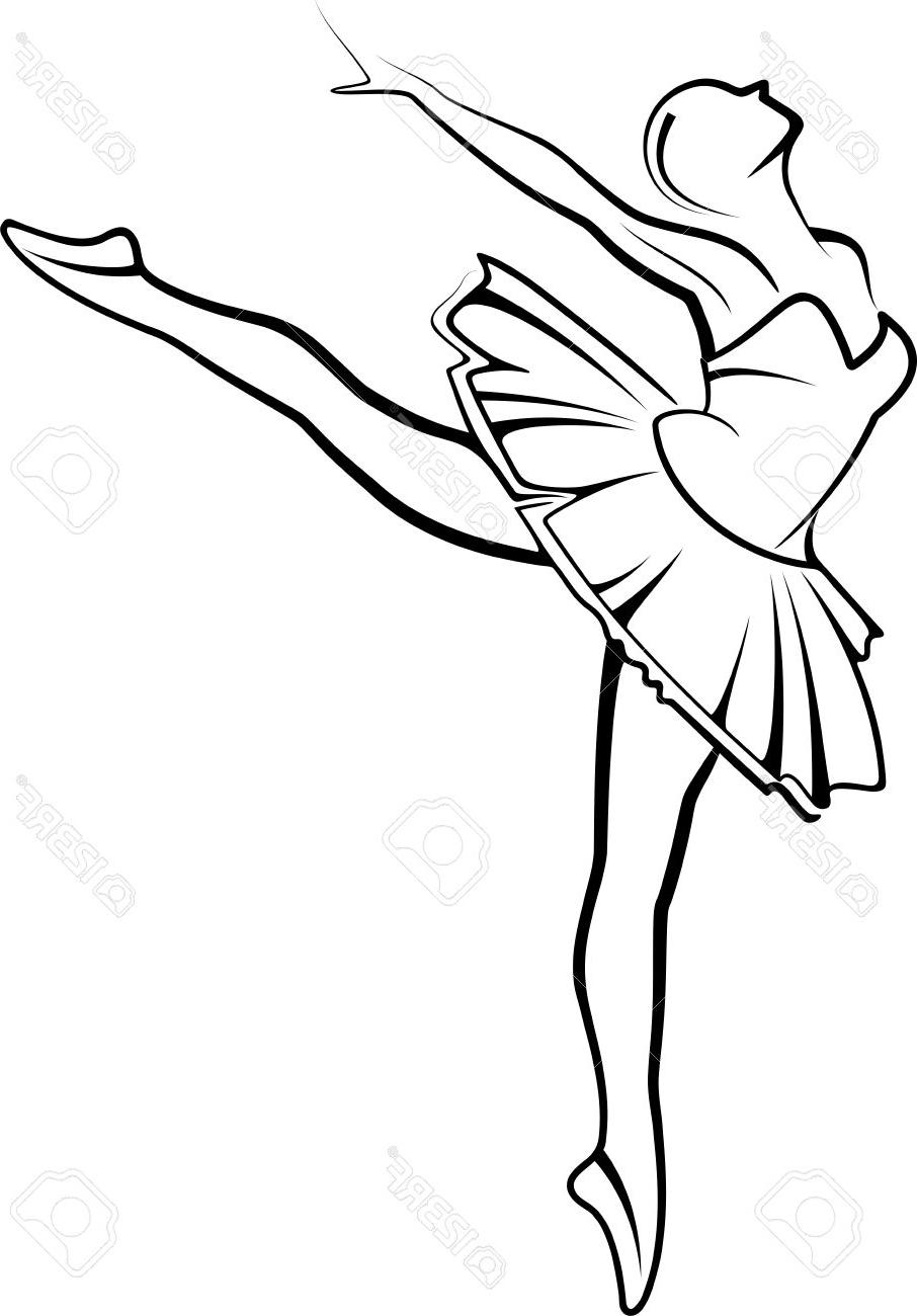 graphic about Ballerina Silhouette Printable known as Ballerina Sneakers Drawing Totally free obtain suitable Ballerina Footwear