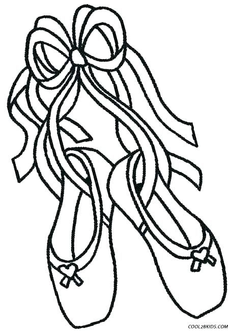 454x650 coloring pages shoes printable ballet coloring pages shoes