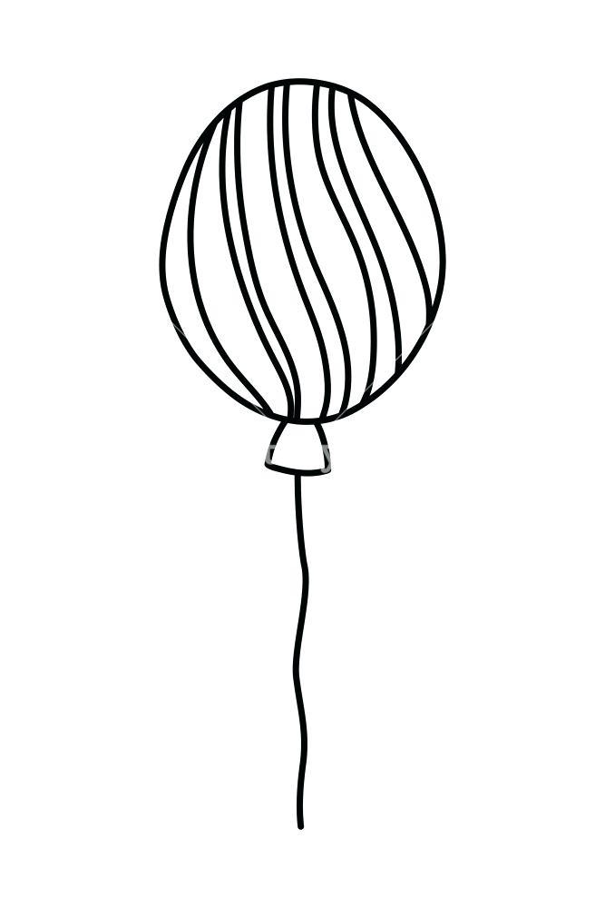 667x1000 Balloon Outline Vector Icon Birthday Air Balloon Thin Line Outline
