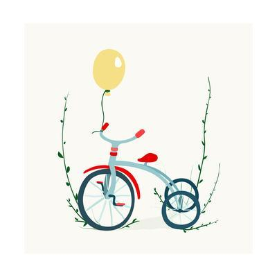 400x400 Children's Tricycle Drawing Childish Tricycle Illustration